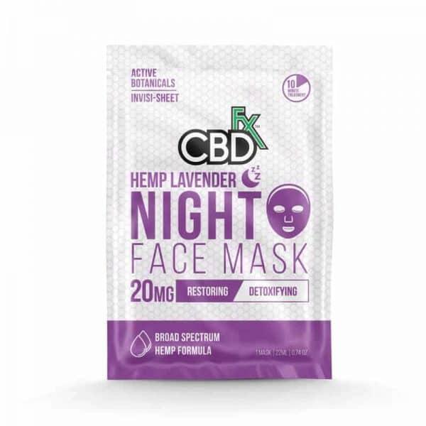 CBDfx Lavender CBD Night Face Mask – 20mg