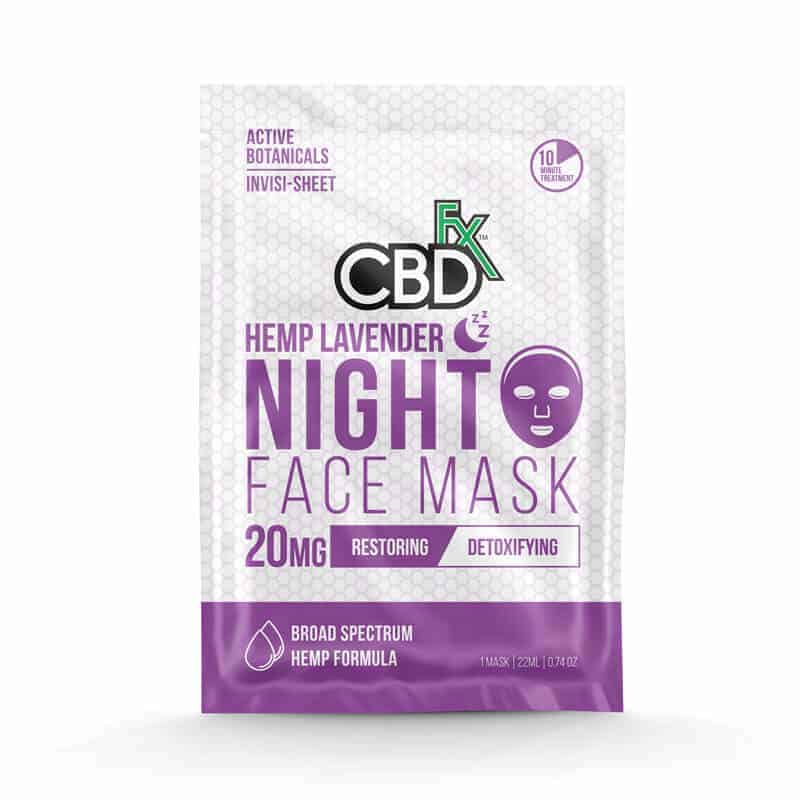 CBDfx Lavender CBD Night Face Mask – 20mg