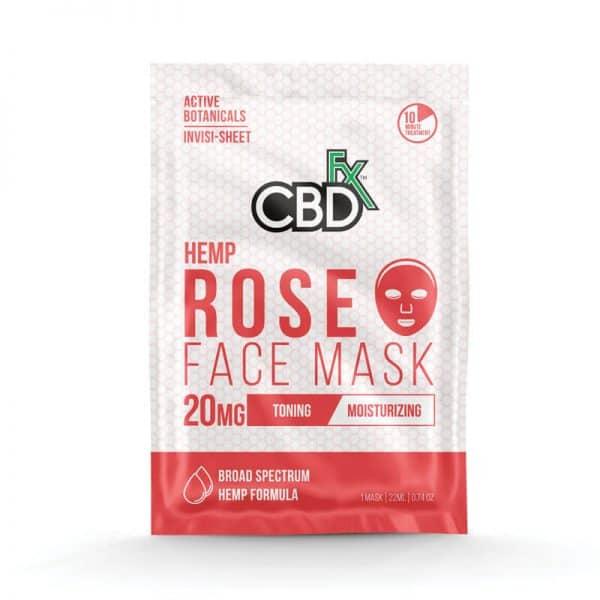 CBDfx CBD Rose Face Mask - 20mg
