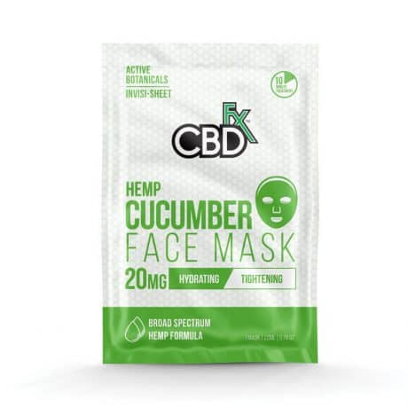 CBDfx CBD Cucumber Face Mask – 20mg