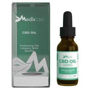 Medix CBD Oil – 100% Natural Flavor (100 MG)