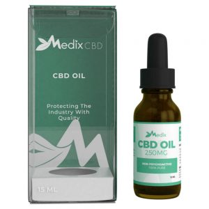 Medix CBD Oil – 100% Natural Flavor (250 MG)