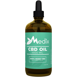 Medix CBD Oil – 100% Natural Flavor (4500 MG)