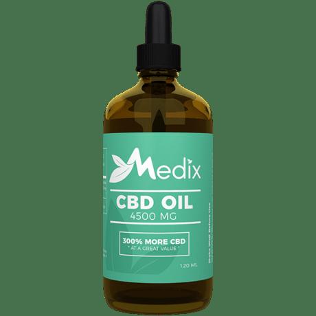 Medix CBD Oil – 100% Natural Flavor (4500 MG)