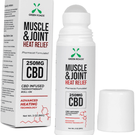 Green Roads CBD Muscle & Joint Heat Roll-on Balm 250 mg