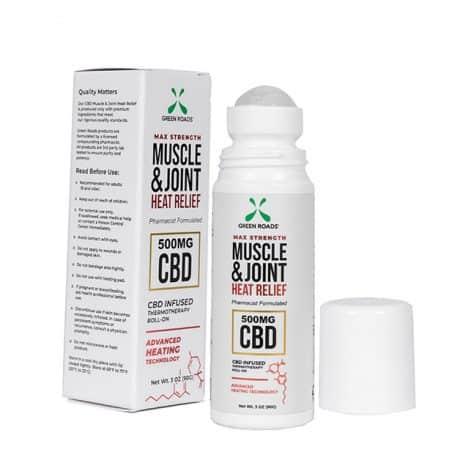 Green Roads Muscle & Joint Heat Roll-on Balm 500 mg