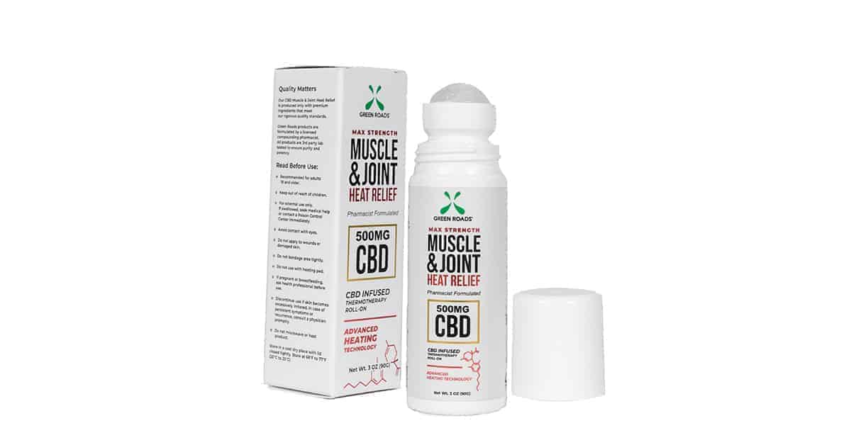 Green Roads CBD Roll-On Heat Relief (500mg per bottle)