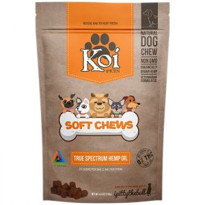 Koi CBD Soft Chews for Pets, 4.4 oz (25 Chews)