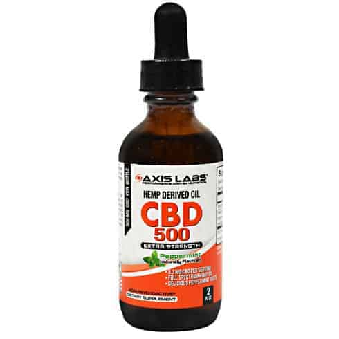 Axis Labs CBD 500, Hemp Derived Oil Liquid, 2 oz