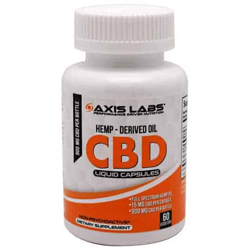 Axis Labs CBD Hemp-Derived Oil, 60 Liquid Capsules