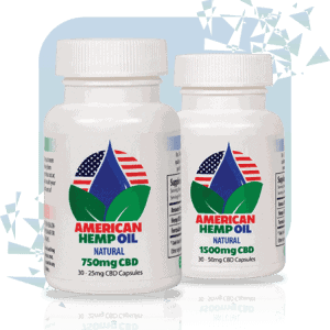 American Hemp Oil 1500mg CBD Gel Caps