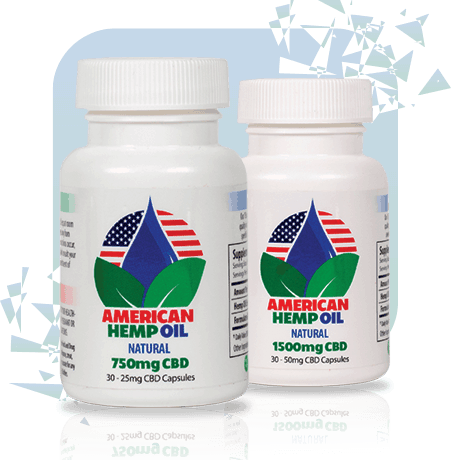 American Hemp Oil 750mg CBD Gel Caps