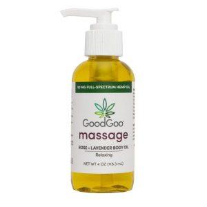 Goo Goo CBD Massage Oil Rose Lavender