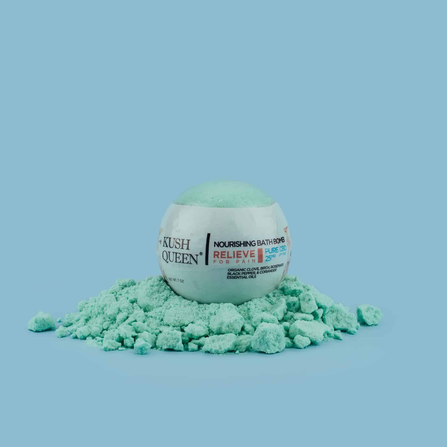 Shop Kush Queen Relieve Cbd Bath Bomb Best Cbd Finder