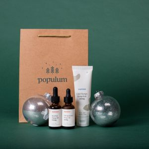 Ultimate CBD Holiday Gift Guide Gift Idea for New CBD Users: Populum Beginner CBD Gift Set