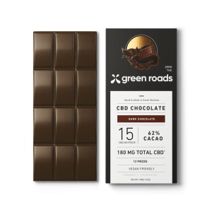Green Roads 180mg CBD Dark Chocolate Bar