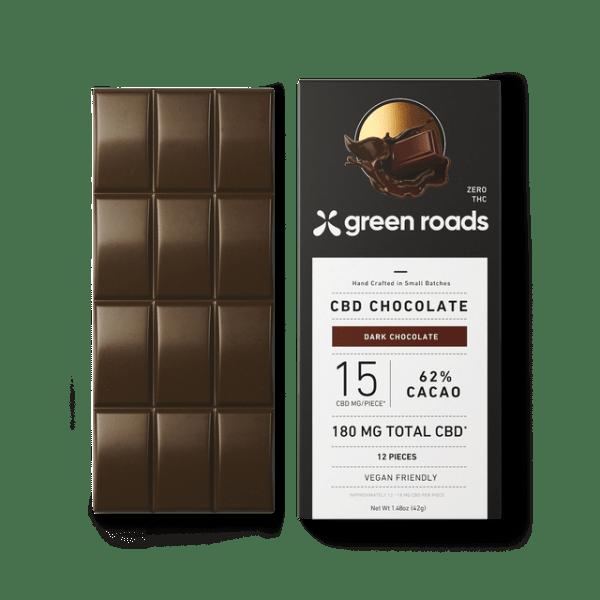 Green Roads 180mg CBD Dark Chocolate Bar
