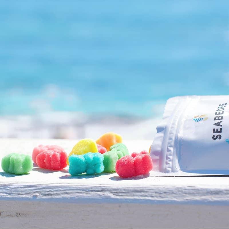 Seabedee Sour Neon CBD Gummies