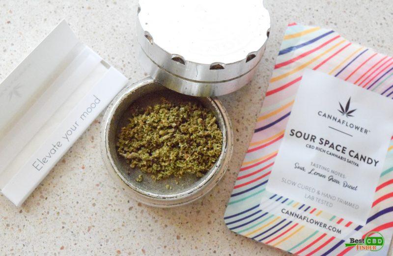 Cannaflower Review - Sour Space Candy CBD Hemp Flower