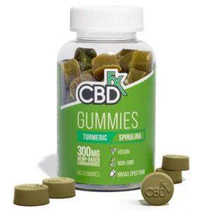 CBDfx Antioxidant Gummies with Turmeric & Spirulina