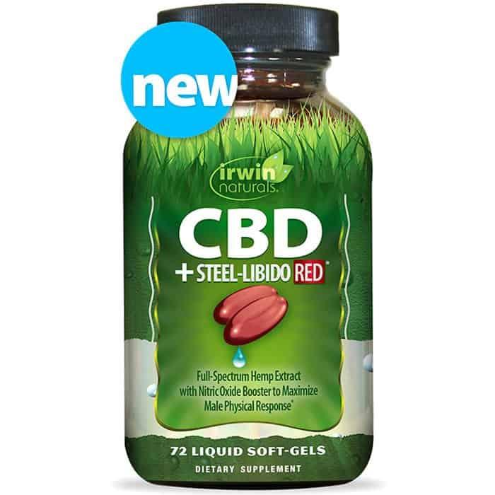 Shop Irwin Naturals CBD +Steel-Libido RED® - 72 Liquid Soft-Gels Best CBD Finder