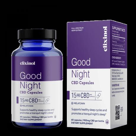Elixinol Good Night CBD Capsules