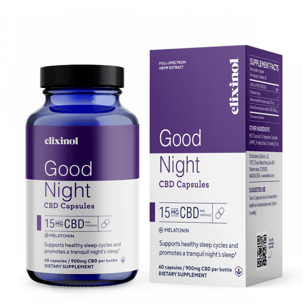 Elixinol Good Night CBD Capsules