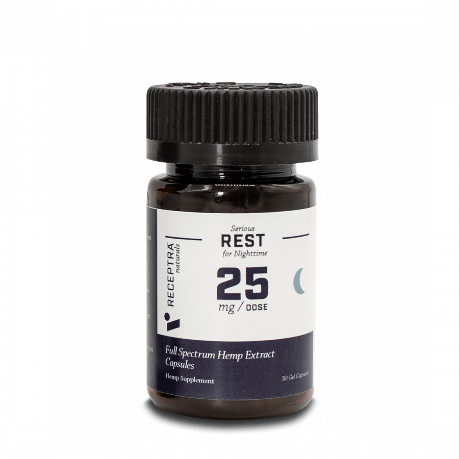 Receptra Naturals Serious Rest Gel Capsules 25mg / 30 Gel Caps