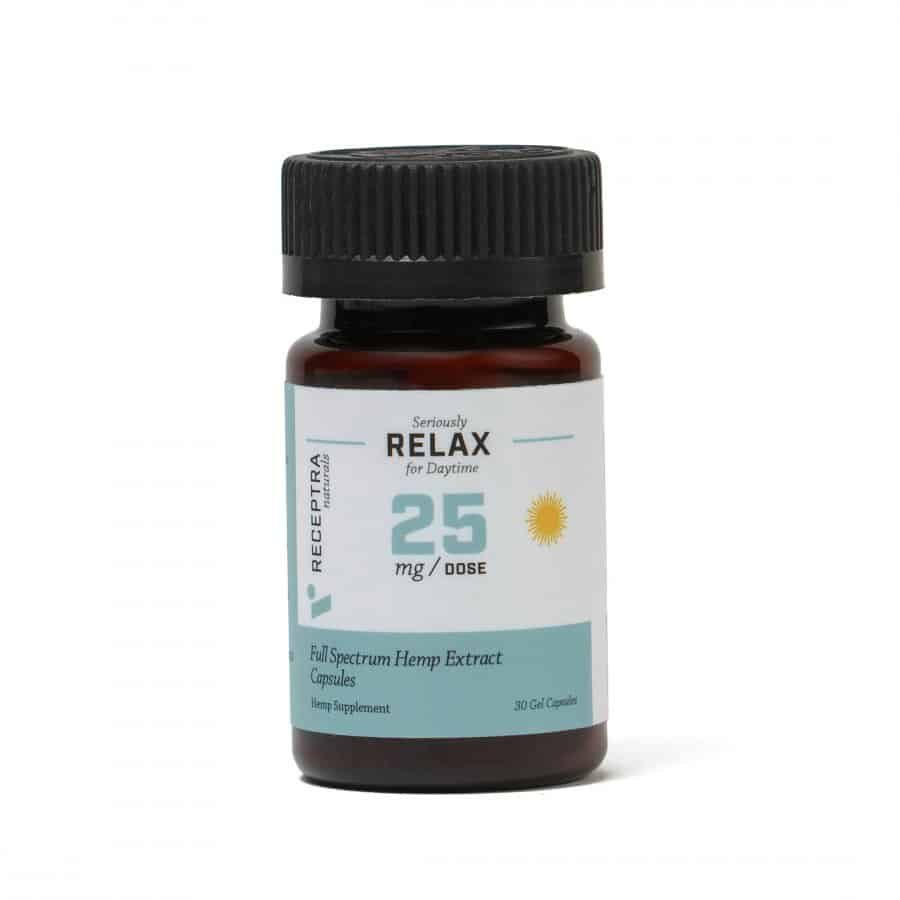 Receptra Naturals Seriously Relax Gel Capsules – 25mg / 30 Gel Caps