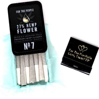 CBD Flower Pre-Rolls by For the People (7 Pack)