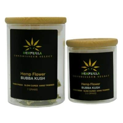 Hempzilla CBD Flower Buds (1/8th or 1/4th .oz) Bubba Kush
