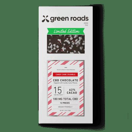 Green Roads CBD Candy Cane Crumble CBD Chocolate Bar – 180mg