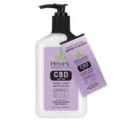 Hempz Lavender Oil CBD Herbal Body Moisturizer 8.5 oz
