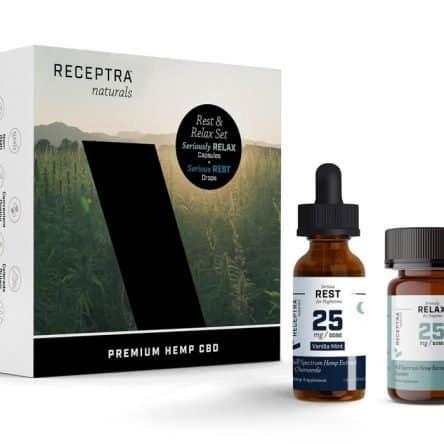 Receptra Naturals Rest and Relax CBD Boxed Set
