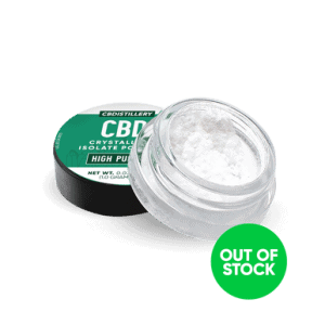 High Purity CBD Isolate Powder (Crystalline) from Hemp