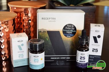 Receptra Naturals Rest and Relax CBD Oil + Capsule Set Review + Giveaway