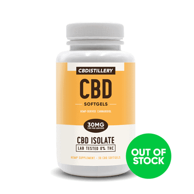THC Free CBD Isolate Softgels - 30mg - 30 Count
