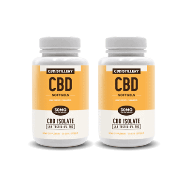 BOGO! THC Free CBD Isolate Softgels - 30mg - 30 Count