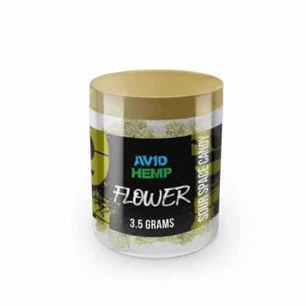 Avid Hemp CBD Flower – Sour Space Candy, 3.5
