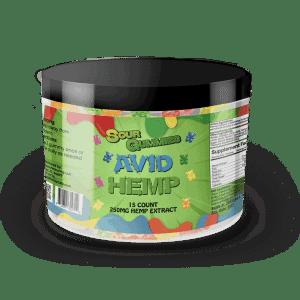CBD Sour Gummy Bears 250mg 15ct