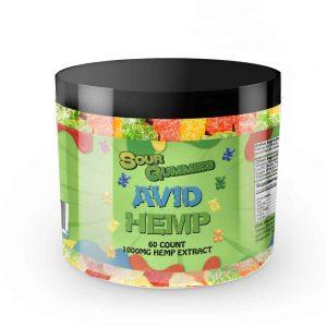 CBD Sour Gummy Bears 1,000mg 60ct