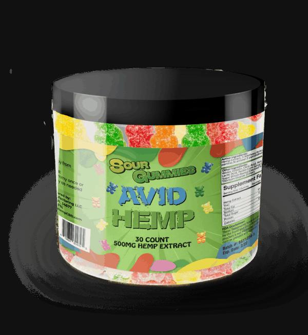 CBD Sour Gummy Bears 500mg 30ct