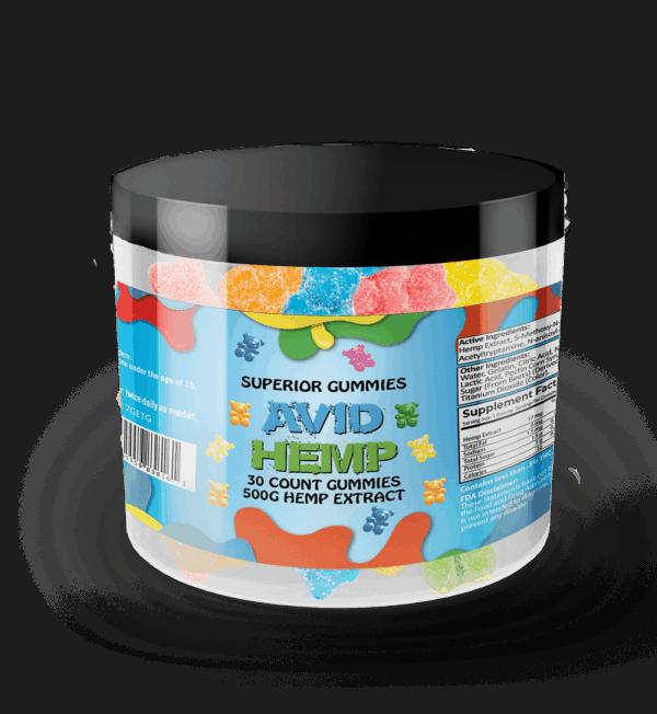Avid Hemp Original CBD Gummy Bears 500mg 30ct