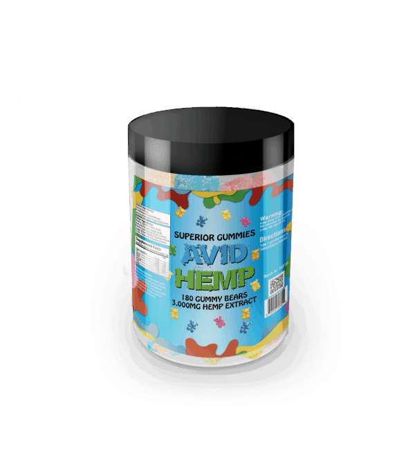 Avid Hemp Original CBD Gummy Bears 3,000mg 180ct