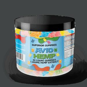 Avid Hemp Original CBD Gummy Bears 1,000mg 60ct