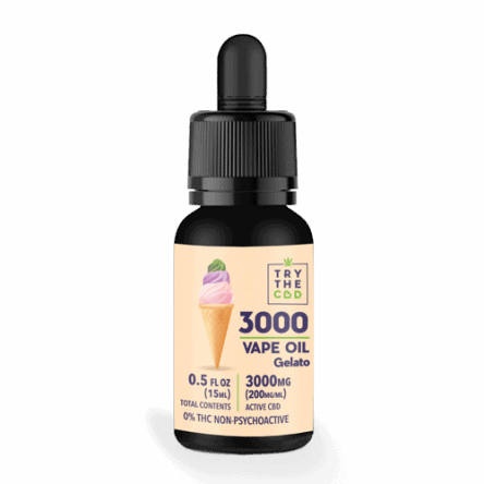 Try The CBD 3000MG CBD Gelato 45 Strain Oil