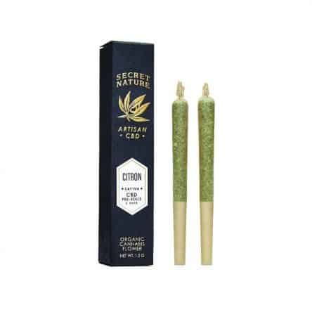 Secret Nature CBD Citron CBD Hemp Flower Pre-Rolls