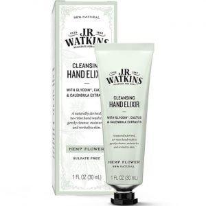 J.R. Watkins Cleansing Hand Elixir - Hemp Flower 1 fl oz Liquid Immune Support