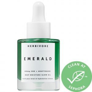 Herbivore Emerald CBD + Adaptogens Deep Moisture Glow Oil 1 oz/ 30 mL