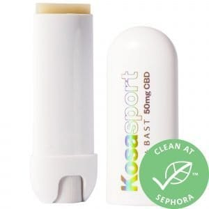 Kosasport LipFuel Extra-Strength Lip Balm with Flora + Bast 50mg CBD and Hyaluronic Acid 0.17 oz / 5g